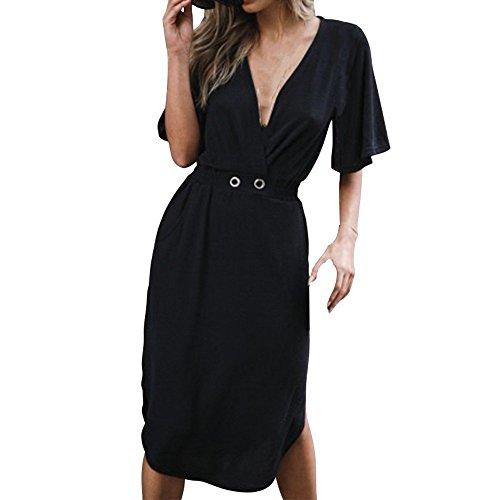 - HITRAS Sexy Dress! Fashion Women Short Sleeve V-Neck Bandage Tight Mini Dress Dress