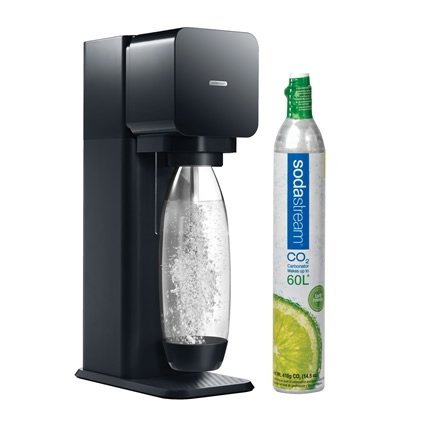 Sodastream Play Sparkling Water and Soda Maker Starter Kit with 60L CO2 Carbonator, Black