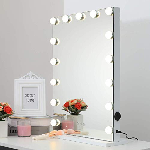 Moon Moon Hollywood Vanity Mirror with Lights,Professional Makeup Mirror & Lighted Vanity -