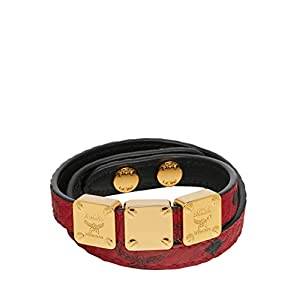 MCM Women's Project Double Bracelet, ruby red, ONE SIZE