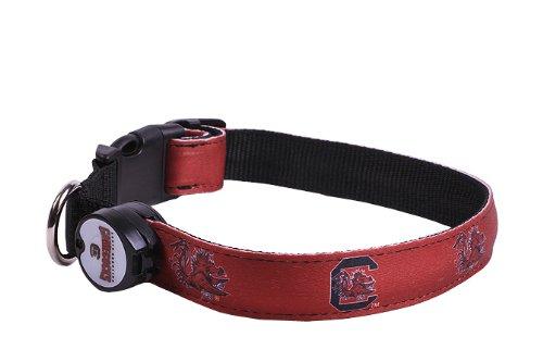 NCAA South Carolina Gamecocks LED Light Up Dog Collar, Medium/10-15-Inch