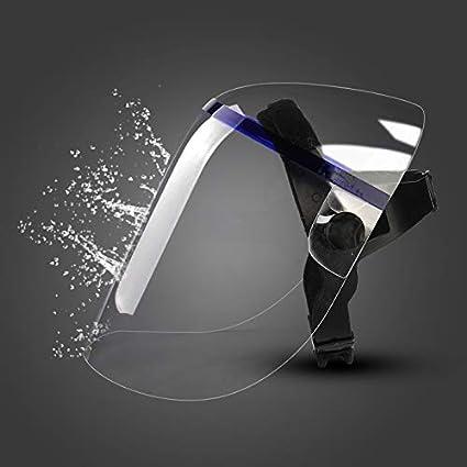 Compra IDJDJSA Elegante Cocinar Conjunto máscara de Cristal Impacto Transparente orgánica Anti-Salpicaduras de protección Quemaduras Cocina máscara (Color : Transparent) en Amazon.es