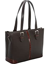 Jack Georges Prestige Collection Madison Avenue Tote W/Croco Trim