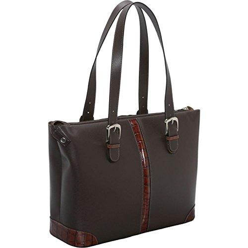 Hobo Croco Handbag (Jack Georges Prestige Collection Madison Avenue Tote W/Croco Trim in Brown)