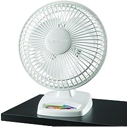 Lasko 2002W Personal Fan, 6-Inch, White