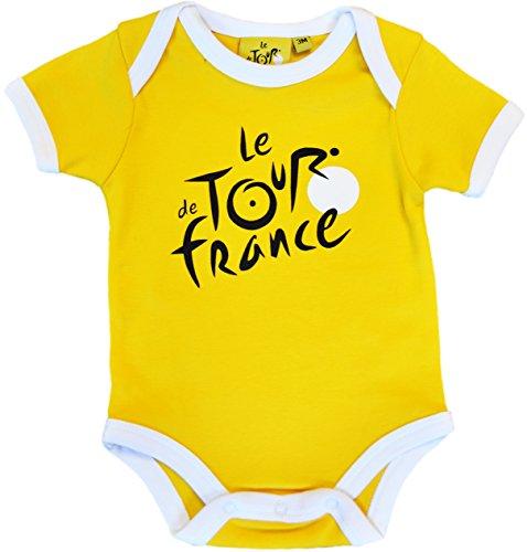 Le Tour de France Baby Boys' Cycling Bodysuit Collection Officielle 6 Mois Yellow - Yellow