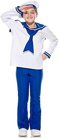 Aec cu260218/116 Disfraz Infantil de pequeño Marinero para niño ...