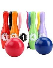 JUSTDOLIFE Bowling Seti Yaratıcı Sayı Bowling Oyunu Bowling Topu ile Çocuklar için Bowling Topu