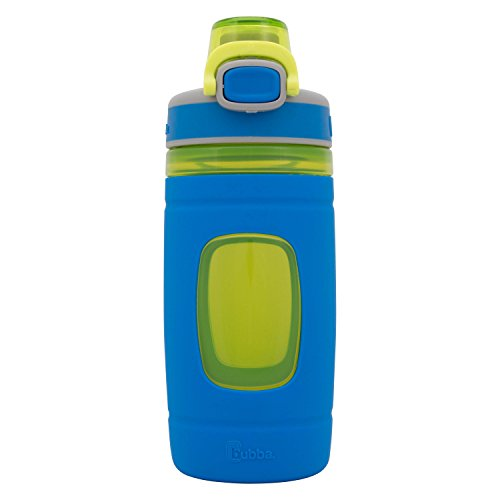 Bubba Flo Kids Water Bottle with Silicone Sleeve, 16 oz, Azure