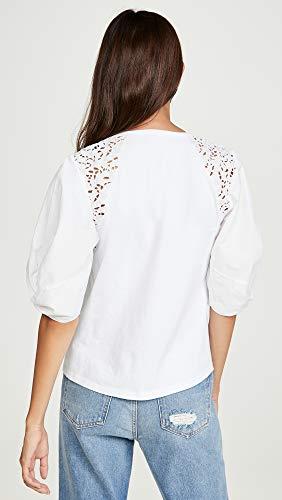 La Vie Rebecca Taylor Women's Short Sleeve Ivy Embroidery Top