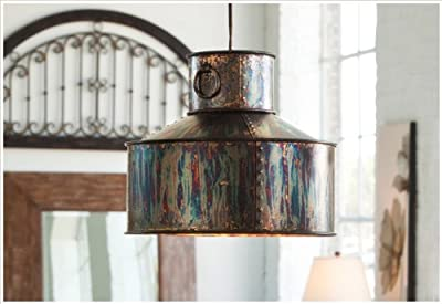 Rustic Pendant Light Hanging Chandelier Industrial Oxidized Metal Loft Style Lighting