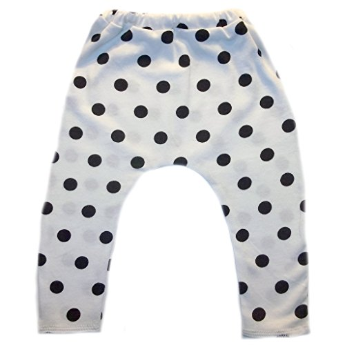 (Jacqui's Baby Girls' Black Polka Dot Leggings, 6-12 Months )