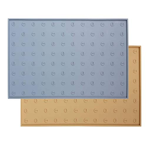 Woopet! Pet Food Mat 24'X16' Gray Extra Large,...