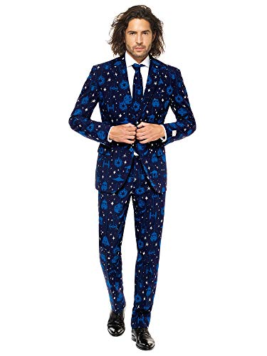OppoSuits Christmas Suits Men with Star Wars Starry Side Theme - Ugly Xmas Sweater Costumes Include Jacket Pants & Tie - ()