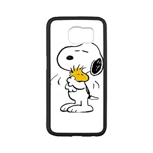 Morimo Custom Protective Phone Case for SamSung Galaxy S6,Funny Cartoon Snoopy peanuts Laster Technology Nice Quality Plastic and TPU Cover