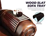 Etna Solid Wood Sofa Arm Table - Flexible Tray