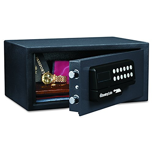 Sentry Safe H060ES Electronic Lock/Card Swipe Security Safe, 0.4 ft3, 15w x 11d x 7h, Black (SENH060ES) by SentrySafe
