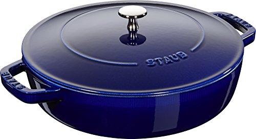 Staub Braiser, Dark Blue, 4 qt. - Dark Blue by Staub by Staub