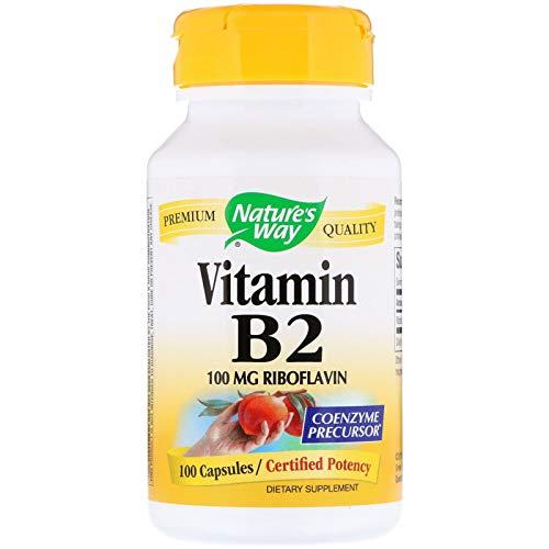 Nature's Way Vitamin B2 100 mg Riboflavin, 200 Count
