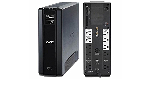 - Back-UPS Pro 1500VA 10-outlet Uninterruptible Power Supply with Surge Protection and External Battery Pack BR24BPG BR1500G APC UPS Battery Back Up