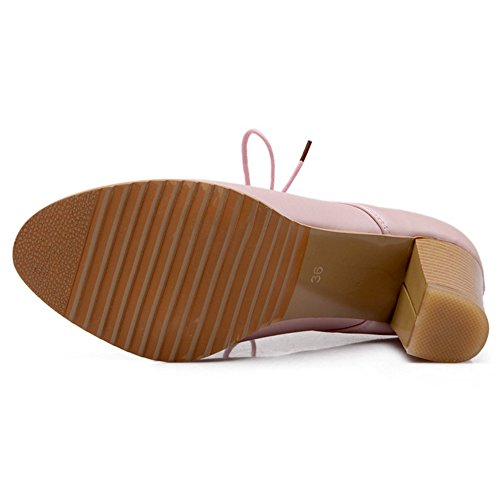 Ancho Tacon Coolcept Bombas Pink Zapatos Mujer xRxqfwSPE