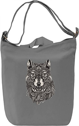 Wolf Borsa Giornaliera Canvas Canvas Day Bag  100% Premium Cotton Canvas  DTG Printing 