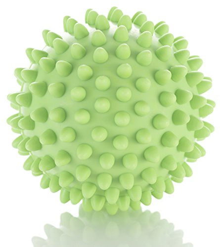 Spiky Massage Ball - Deep Tissue Foot Massager - Lacrosse Balls with Spike to Improve Reflexology and Mobility - Trigger Point Roller for Myofascial Release and Plantar Fasciitis (Spike Foot)