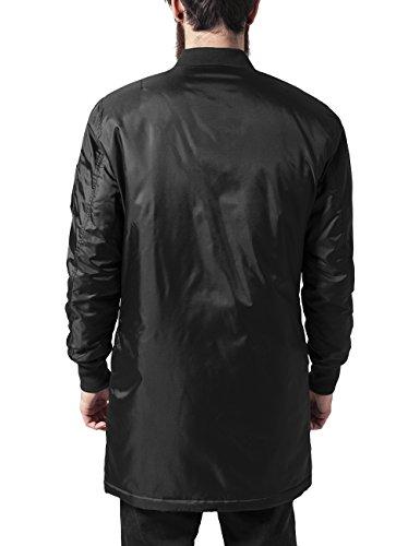 Nero black Bomber Jacket Uomo Giacca Classics Urban Long YpqwaT