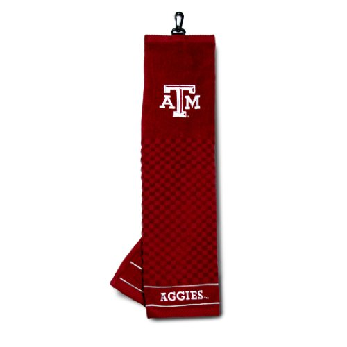 Team Golf NCAA Texas A&M Aggies Embroidered Golf Towel, Checkered Scrubber Design, Embroidered Logo