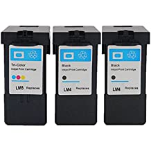 ESTON 3 Combo Pack Ink Cartridges for Lexmark No.4 Lexmark No.5 X2600 X2650 X2670 Z2300