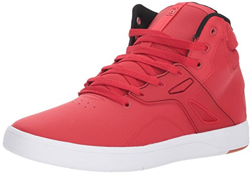 DC Men's Frequency HIGH Skate Shoe, red, 6.5 Medium US