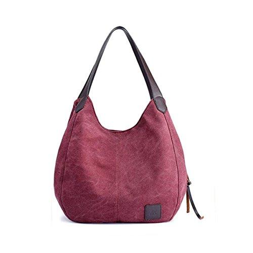 hombro hombro de los de los la de de de hombro las de de bolsos hombro hombro los bolsos de moda de mujeres bolsos lona Bolsos de Color Púrpura de bolsos los de la 8Ywqx4a