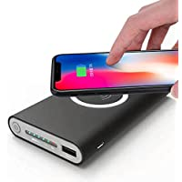MChoice Portable External USB Power Bank 8000mAh & Wireless Charger 2 in 1 For Iphone X