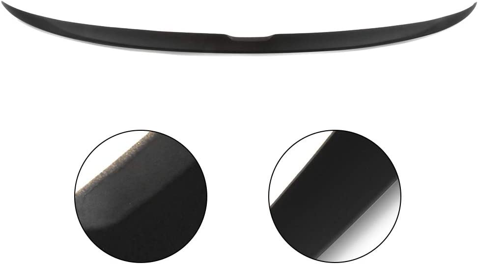 SCITOO ABS Black Rear Trunk Spoiler Wing Exterior Accessories Styling Kits Replacement for Honda Accord 4-Door Sedan 2.4L LX