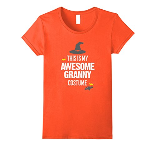 Granny Halloween Costumes (Womens Awesome Granny Halloween Costume T-Shirt Large Orange)