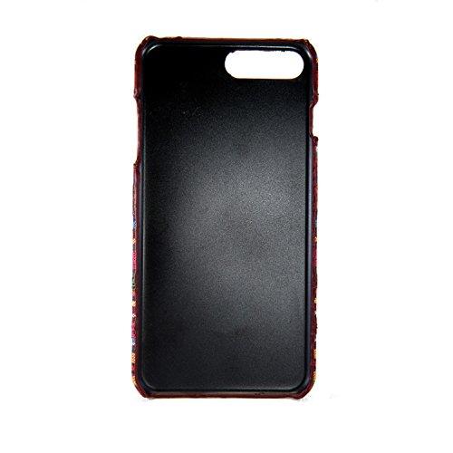 König-Shop Handyhülle aus Stoff-Case für Apple iPhone 7 Plus Cover Etuis Bumper Orange