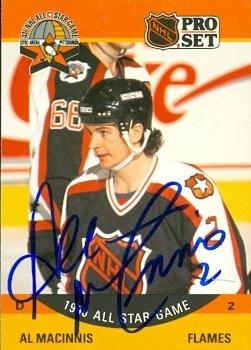 Al MacInnis autographed Hockey Card (Calgary Flames) 1990...