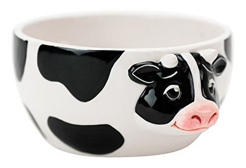 Boston Warehouse - Jarrita en forma de vaca para servir la crema del café, Tazón para servir, Not Applicable, 1