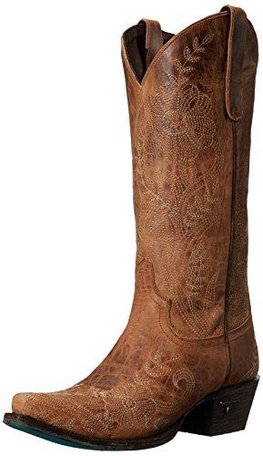 Lane Boots Womens Ashlee Lace Western Laars Bruin