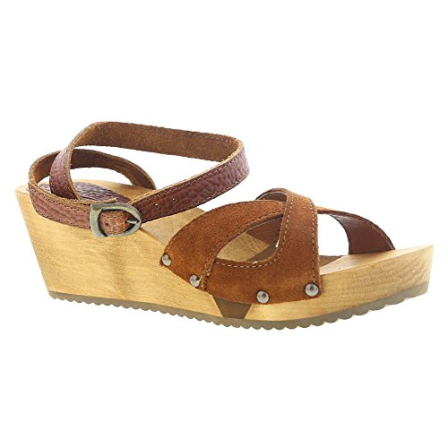 Sanita Women's Thalia Wedge Flex Sandal, Cognac, 40 EU/9/9.5 M US