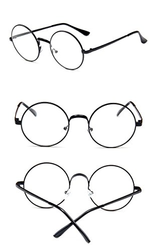 Nuni Classic Metal Wire Frame Round Eyeglasses Small Size (black, - And Frames Eyeglass Square Round