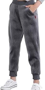 Laeyzuo Girls' Winter Warm Fleece Leggings Pants Toddler Velour Jogger