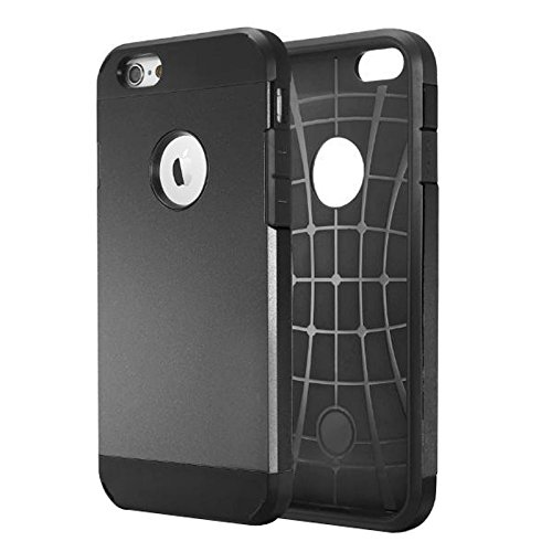 Phone Taschen & Schalen Für iPhone 6 / 6s, Hybrid PC + TPU Tough Armor Farbe Hard Case Cover ( Color : Black )