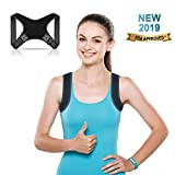 Pasapas Posture Corrector for Women and Men-Best Fully Adjustable Support Back Brace-Posture Support for Upper Back and Neck Pain Relief-FDA Approved