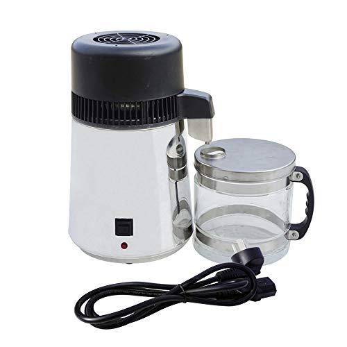 yiyusheng 4 Liter Pure Water Distiller, Distilling Pure Water Machine 304 Stainless Steel Countertop Water Distiller Purifier 750W Home Use by yiyusheng