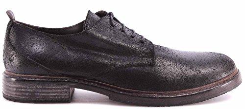 Zapatos Clásicos Hombre MOMA 63601-Y1 Pelle Reverse Nero Black Vintage Made ITA