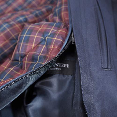 40790 秋冬 日本製 ステンカラー トレンチコート ハーフコート ライナー着脱可 ネイビー(紺) サイズ M LONNER/LEOLUIS ロンナー 紳士服 メンズ 男性用