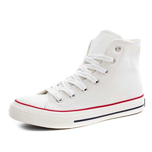 Klassische High Unisex Low Top Sneaker Damen Rot Turnschuhe Schuhe Herren Weiß High rqrXSxw