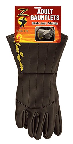 Rubie's Costume Co Men's Zorro Adult Gauntlets, Black, One Size