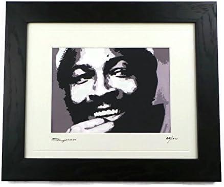 CANVAS Marvin Gaye at Home Art print POSTER